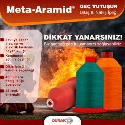 Durak Meta-Aramid - Geç Tutuşur Dikiş & Nakış İpliği
